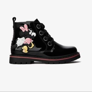 Zara toddler Minnie Mouse Combat Boots